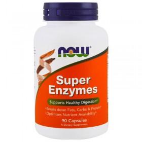 Супер Энзимы (90 капсул) - NOW