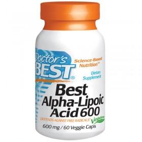 Альфа-липоевая кислота (60 капс по 600 мг) - Dr.Best