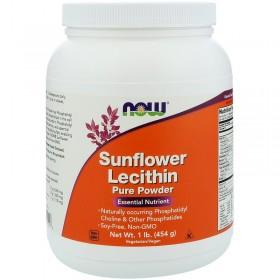 Лецитин подсолнечный, порошок, без ГМО (454 г) - NOW